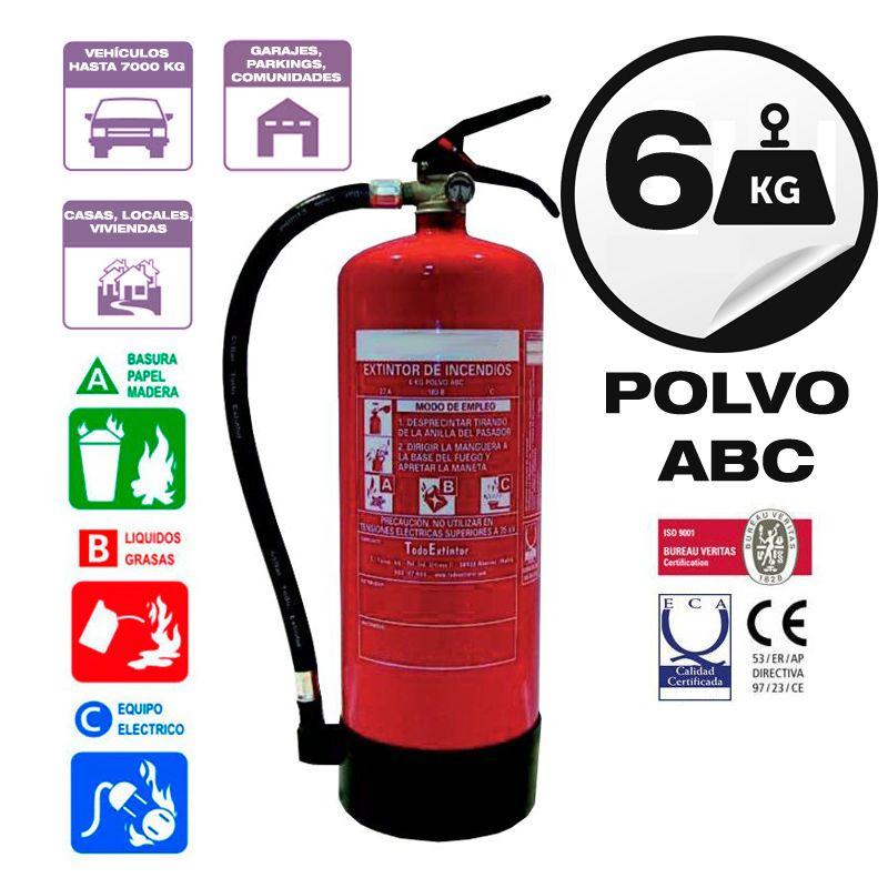 Extintor 6 kg abc